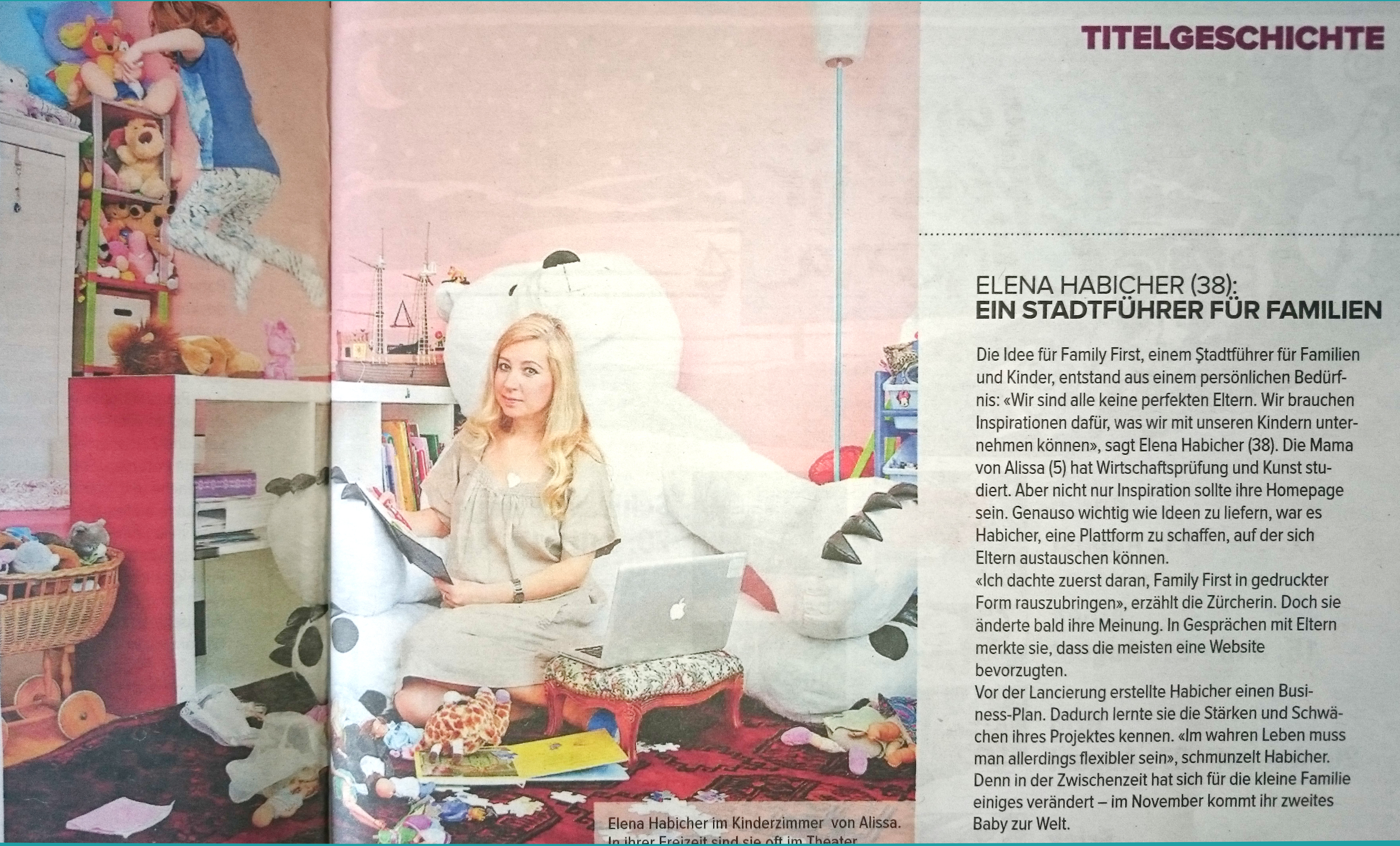 Elena Habicher Family First Coopzeitung