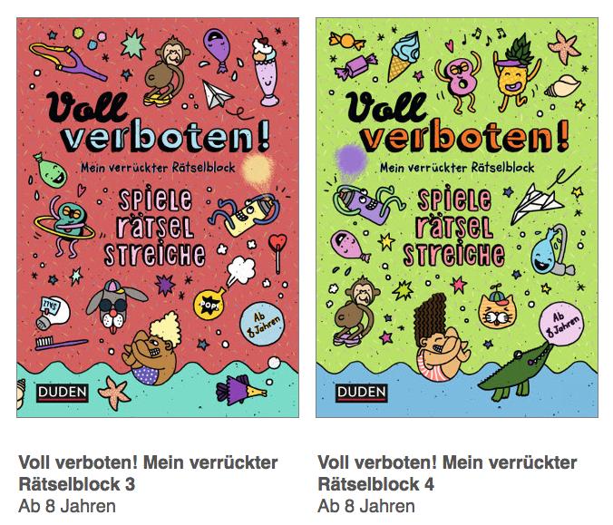 """Rätsel, Spiele, Streiche: """"Voll verboten! Mein verrückter Rätselblock"""" aus dem Dudenverlag"""
