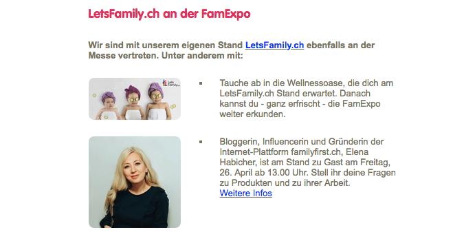 Eena Habicher Mama-Influencerin und Bloggerin an dar FamExpo
