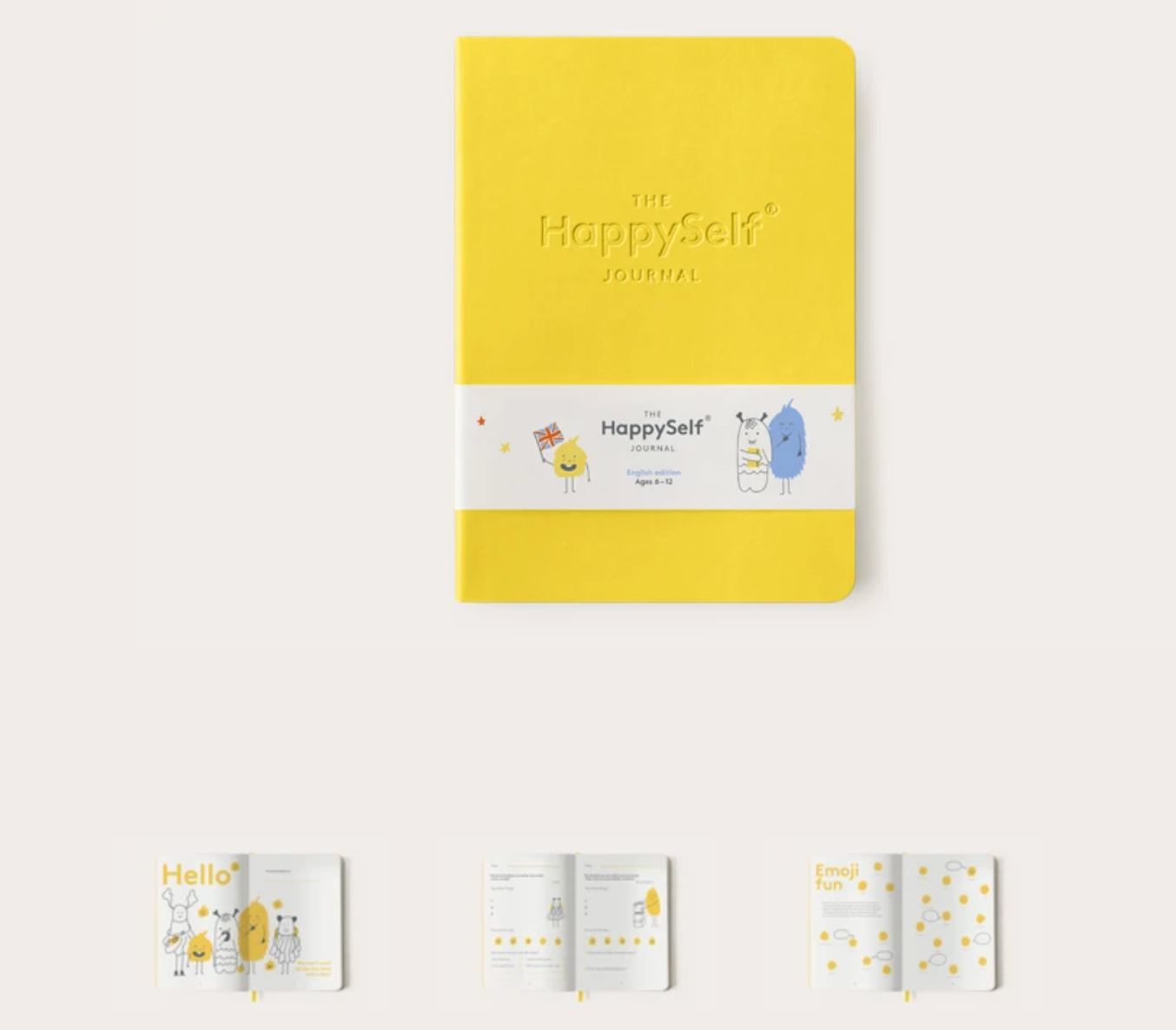 HappySelf - A daily journal for children to promote happiness, develop positive habits and nurture enquiring minds