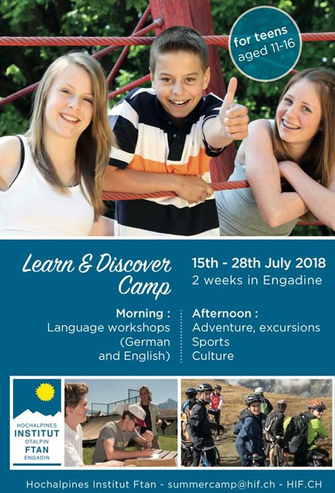 YOUR SUMMER CHALLENGE: Learn and Discover Camp (15th-28th July 2018)