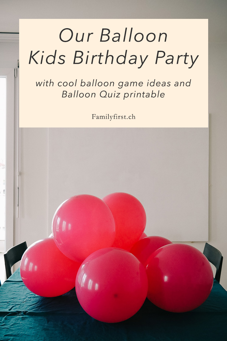 Balloon Birthday Party Ideas