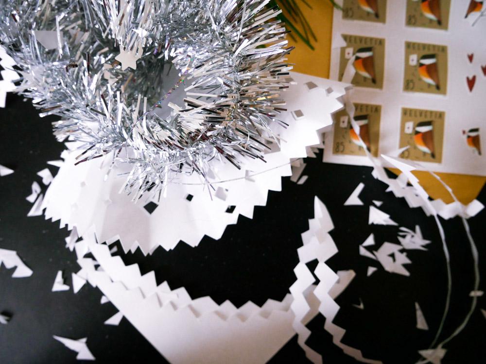 Handgeschriebene Weihnachtskarten