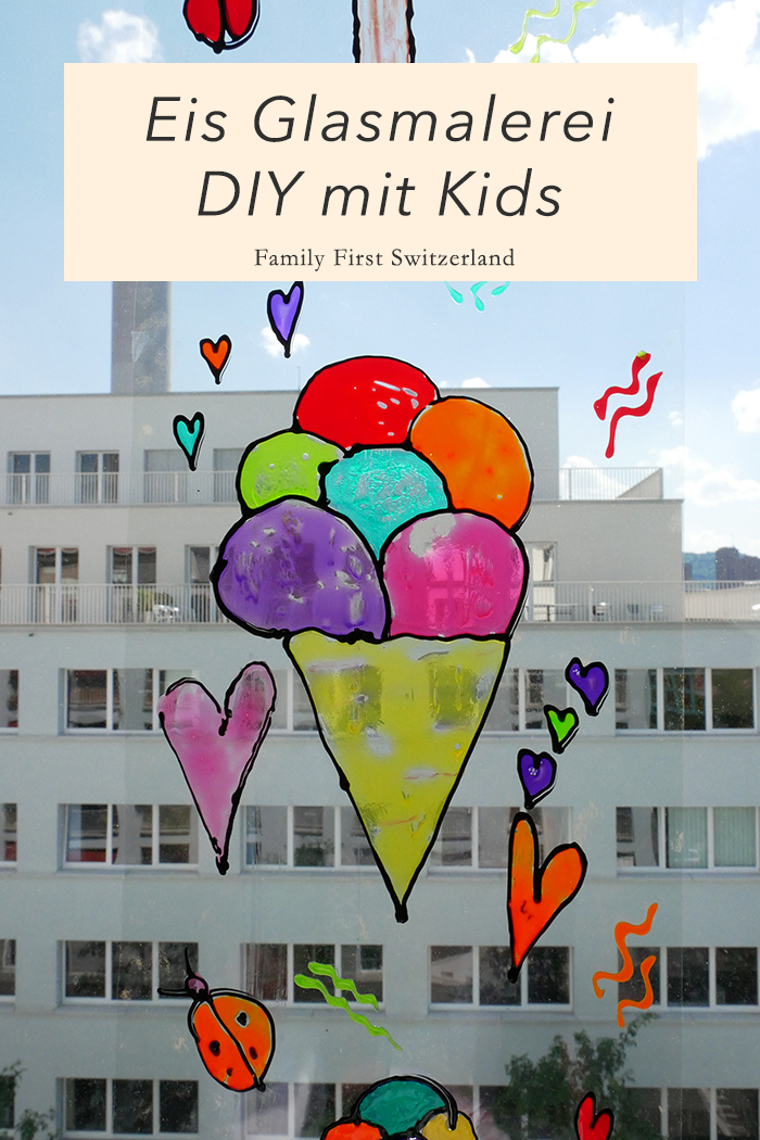 DIY Ice Cream Glasmalerei mit kindern