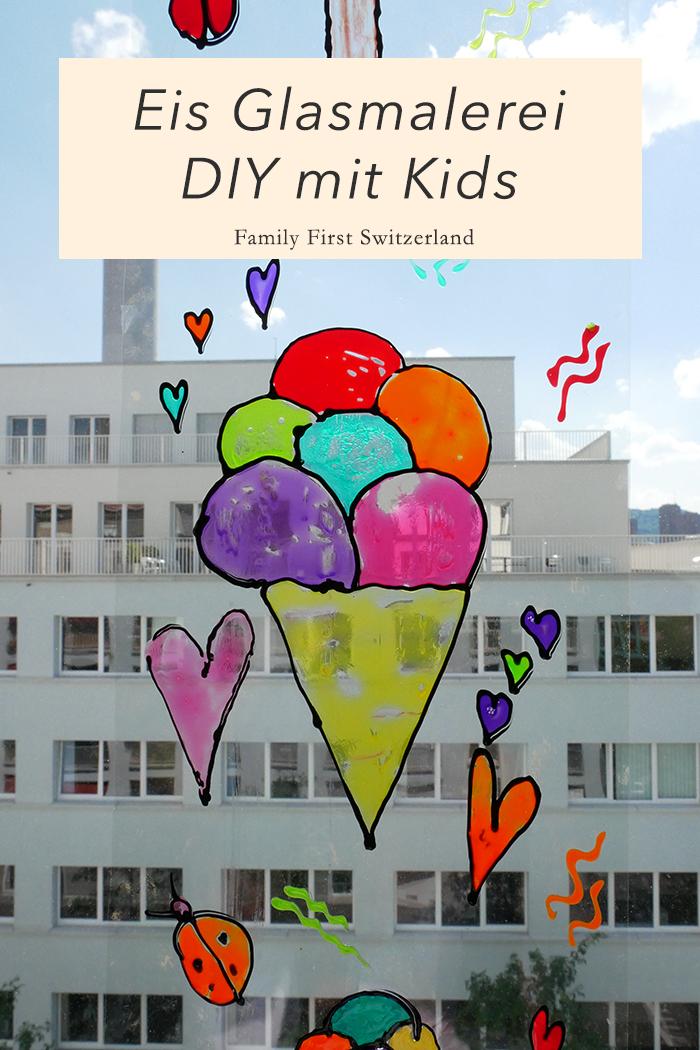 DIY Ice Cream Glasmalerei mit kindern