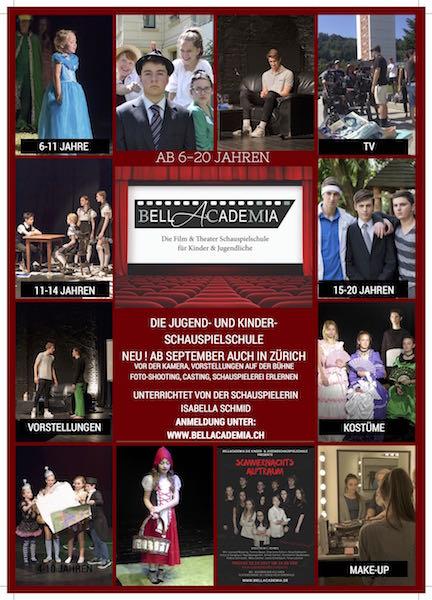 Kinder und Jugendschauspielunterricht der BellAcademia