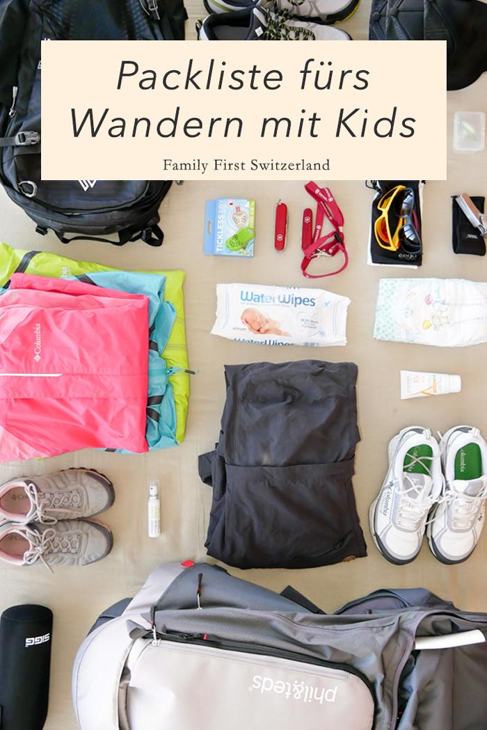 Pin Packliste fürs Wandern mit Kindern