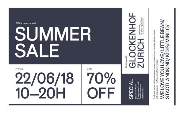 Summer-Sale mit bis zu 70% Rabatt im Glockenhof Zürich