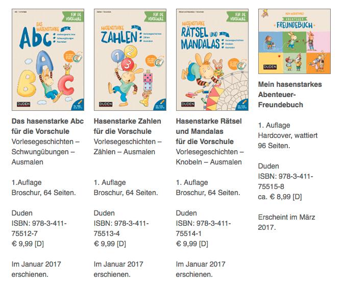 Vorschul-Abenteuer mit dem Hasen Paul / Dudenverlag