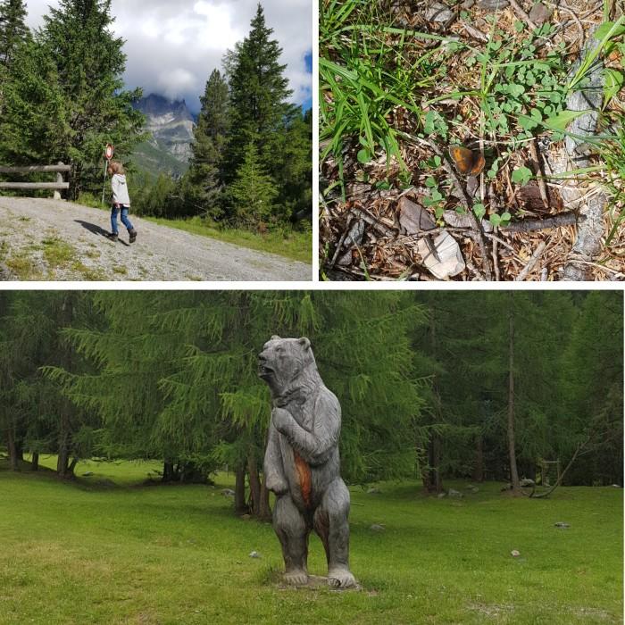 Familienausflug Bärenweg Scoul Schweiz
