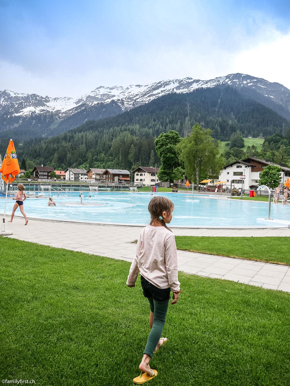 Arena Strandbad Klosters mit Kindern