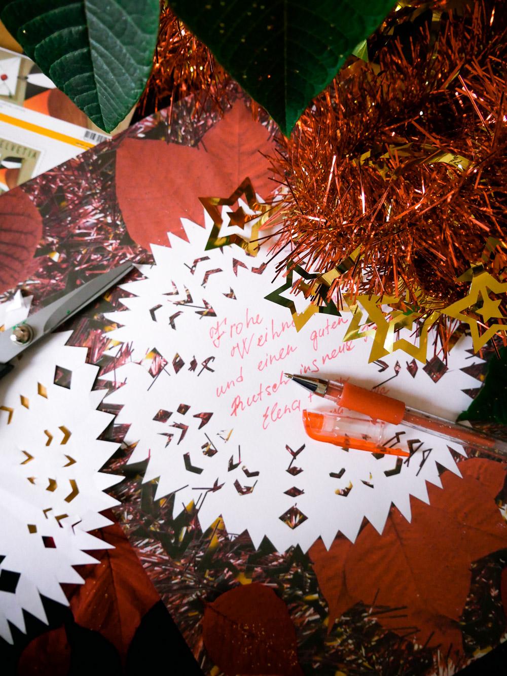 Weihnachtskarten schreiben